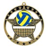 Médaille Or Volleyball 2 3/4 po MSE639G