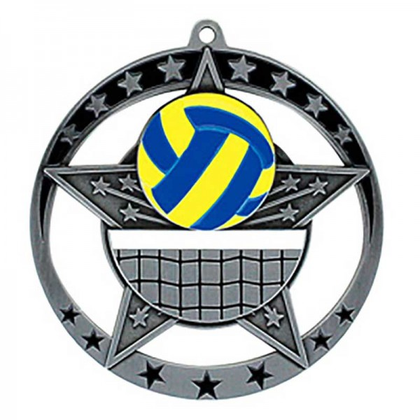 Médaille Argent Volleyball 2 3/4 po MSE639S