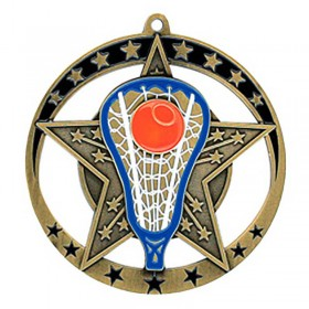 Médaille Or Lacrosse 2 3/4 po MSE642G