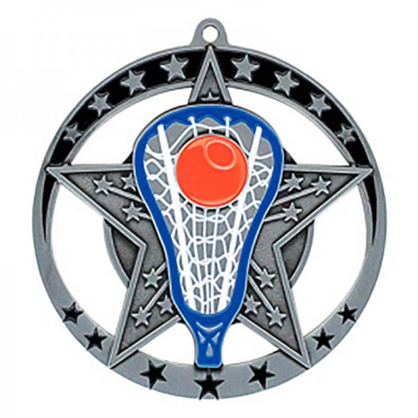 Lacrosse Silver Medal 2 3/4 in MSE642S