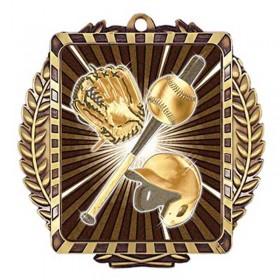 Médaille Or Baseball 3 1/2 po MML6002G