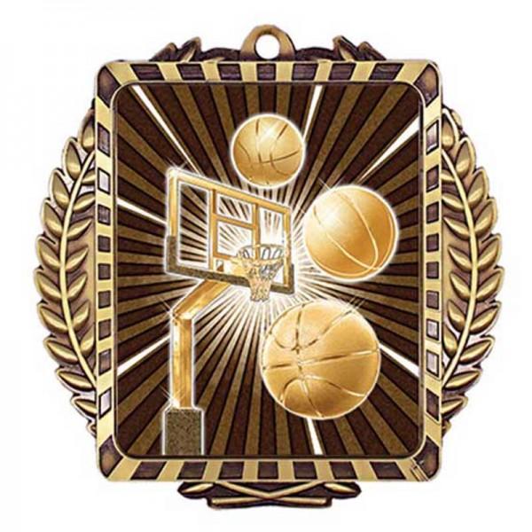 Médaille Or Basketball 3 1/2 po MML6003G