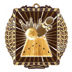 Médaille Or Bowling 3 1/2 po MML6004G
