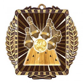 Médaille Or Bowling 3 1/2 po MML6005G