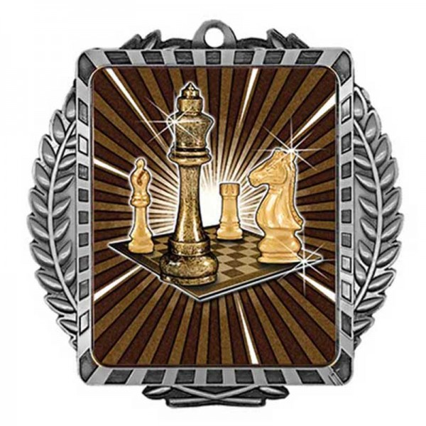 Chess Silver Medal 3 1/2 in MML6011S