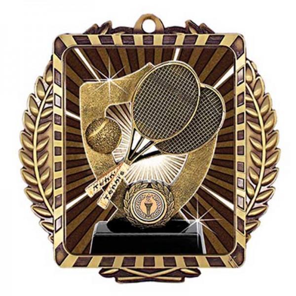 Médaille Or Tennis 3 1/2 po MML6015G
