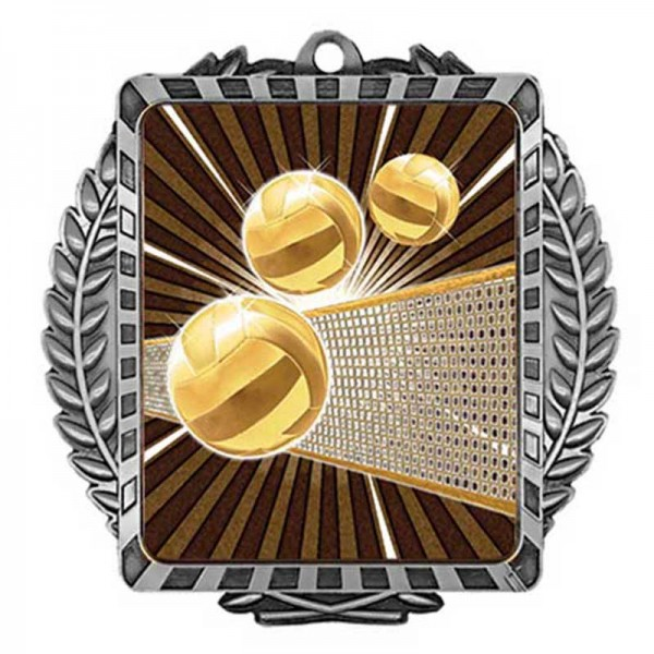 Médaille Argent Volleyball 3 1/2 po MML6017S