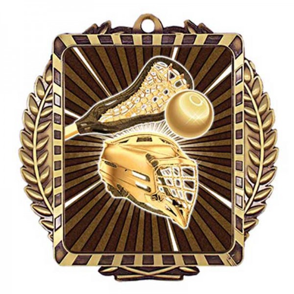 Médaille Or Lacrosse 3 1/2 po MML6028G