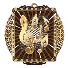 Médaille Or Musique 3 1/2 po MML6030G