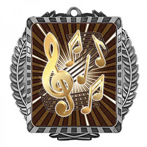 Music Silver Medal 3 1/2 in MML6030S