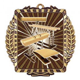 Médaille Or Gymnastique 3 1/2 po MML6052G