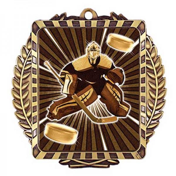 Hockey Goalie Gold Medal 3 1/2 in MML6055G