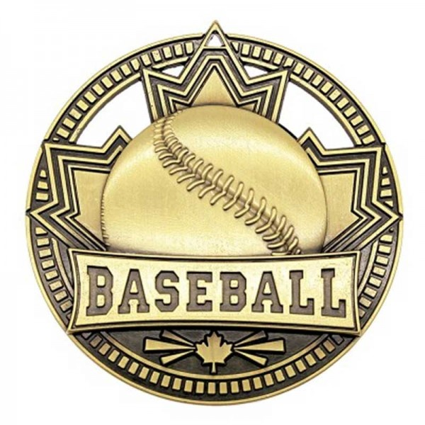 Médaille Or Baseball 2 3/4 po MSN502G