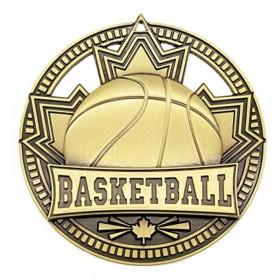 Médaille Or Basketball 2 3/4 po MSN503G