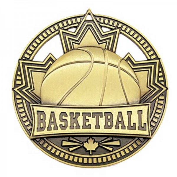 Médaille Or Basketball 2 3/4 po MSN503G