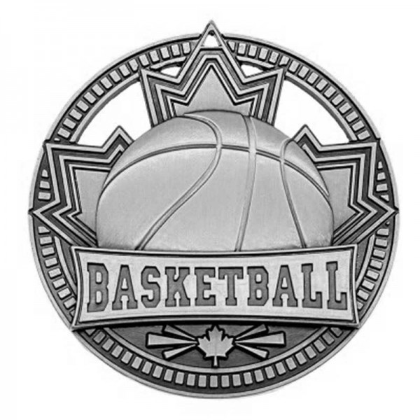 Basketball Silver Medal 2 3/4 in MSN503S