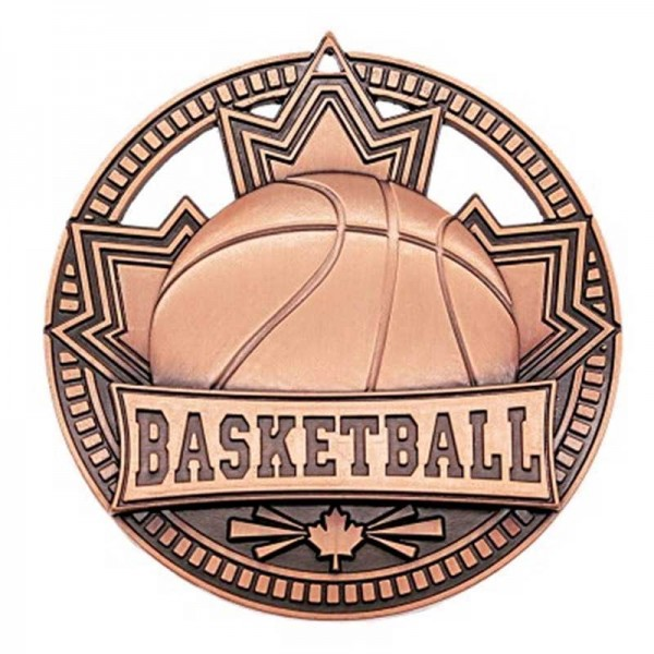 Basketball Bronze Medal 2 3/4 in MSN503Z