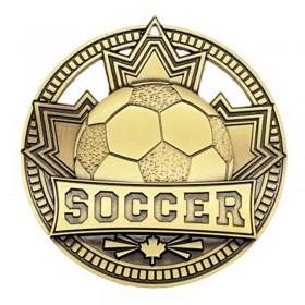 Médaille Or Soccer 2 3/4 po MSN513G