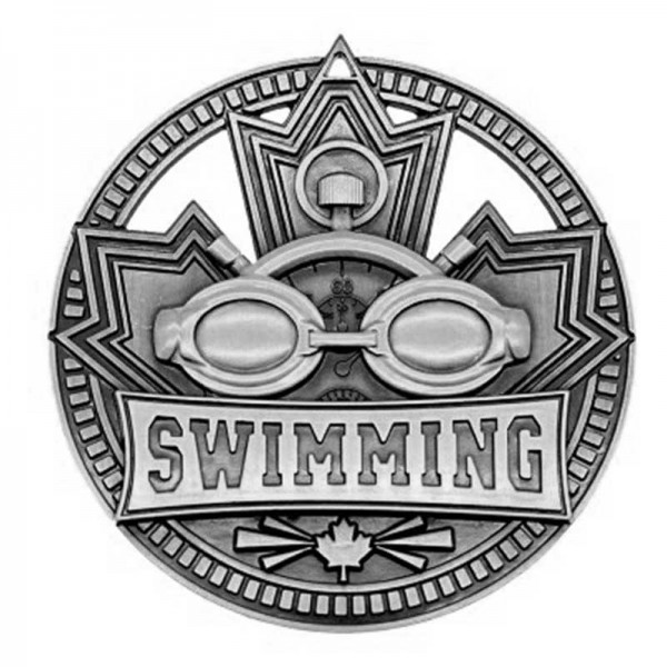 Swimming Silver Medal 2 3/4 in MSN514S
