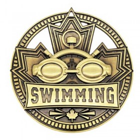 Swimming Gold Medal 2 3/4 in MSN514G