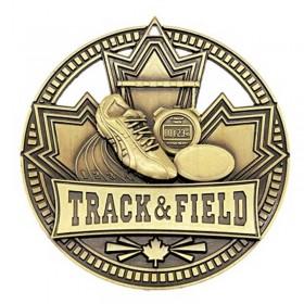 Médaille Or Course à Pied 2 3/4 po MSN516G