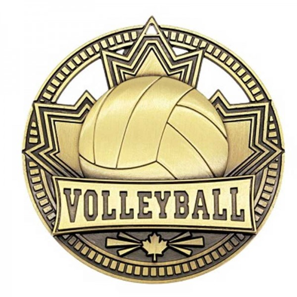 Médaille Or Volleyball 2 3/4 po MSN517G
