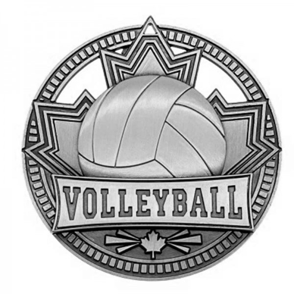 Médaille Argent Volleyball 2 3/4 po MSN517S