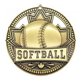 Médaille Or Softball 2 3/4 po MSN526G