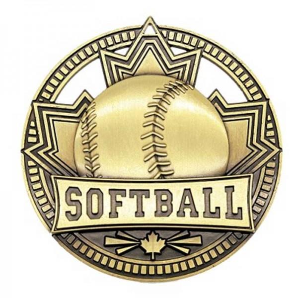 Médaille Or Softball 2 3/4 po MSN526G