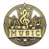 Médaille Gold Musique 2 3/4 po MSN530G
