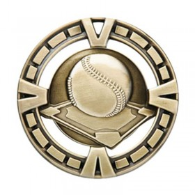 Médaille Or Baseball 2 1/2 po MSP402G