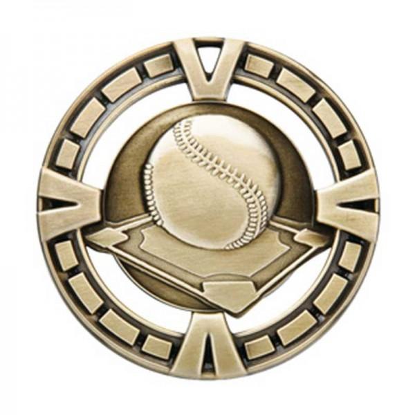 Médaille Or Baseball 2 1/2 po MSP402G