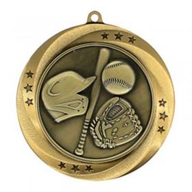 Médaille Or Baseball 2 3/4 po MMI54902G
