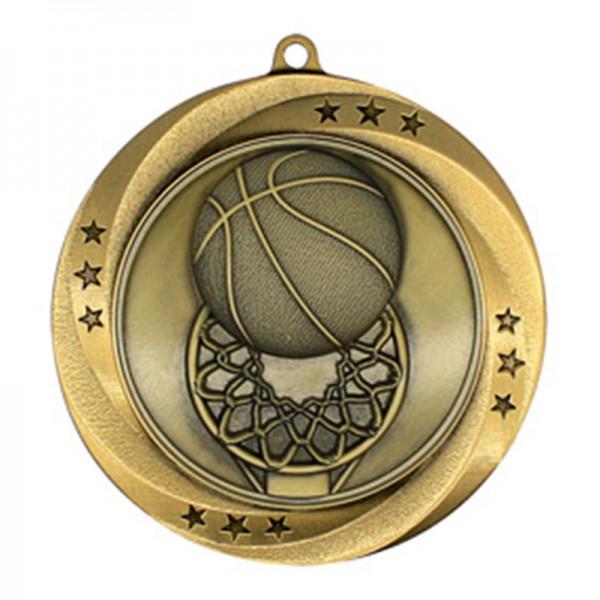 Médaille Or Basketball 2 3/4 po MMI54903G
