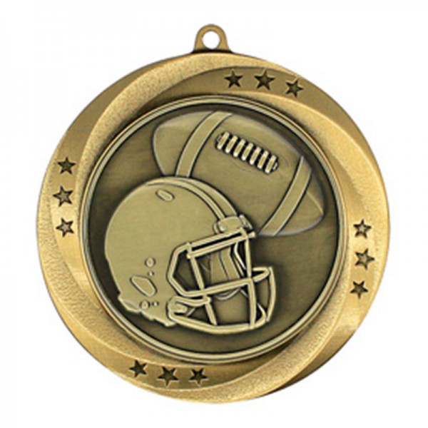 Football Gold Medal 2 3/4 in MMI54906G