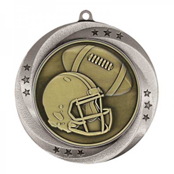 Football Silver Medal 2 3/4 in MMI54906S
