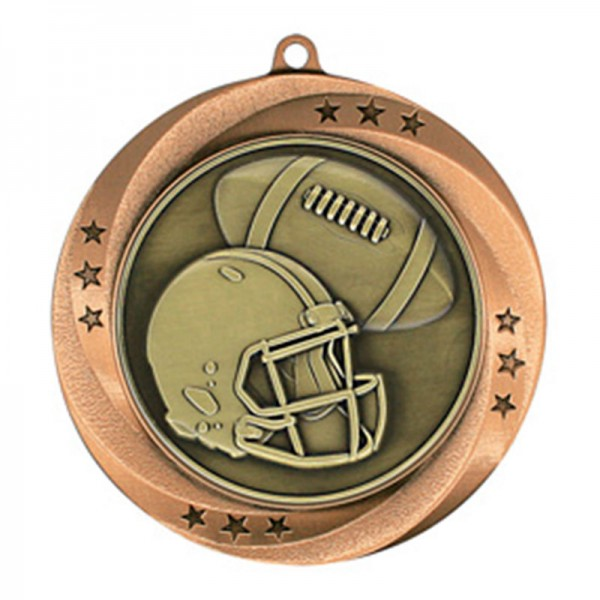 Football Bronze Medal 2 3/4 in MMI54906Z
