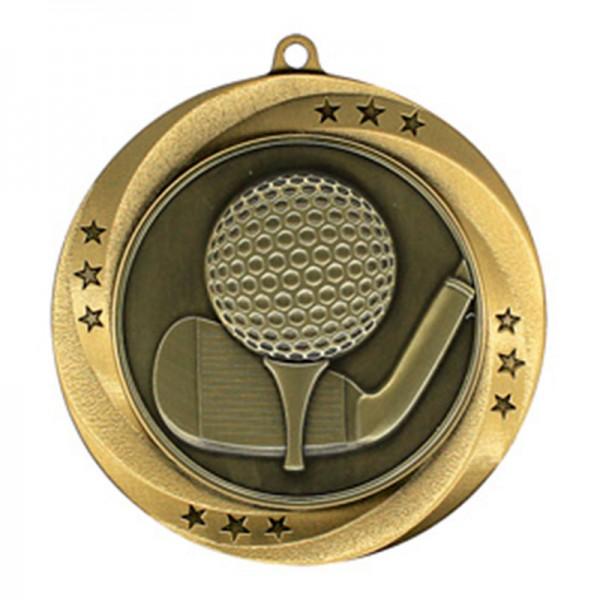 Médaille Or Golf 2 3/4 po MMI54907G