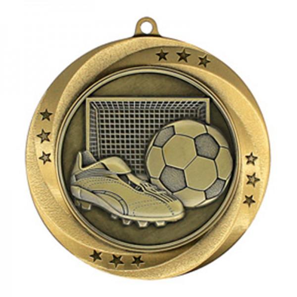 Médaille Or Soccer 2 3/4 po MMI54913G