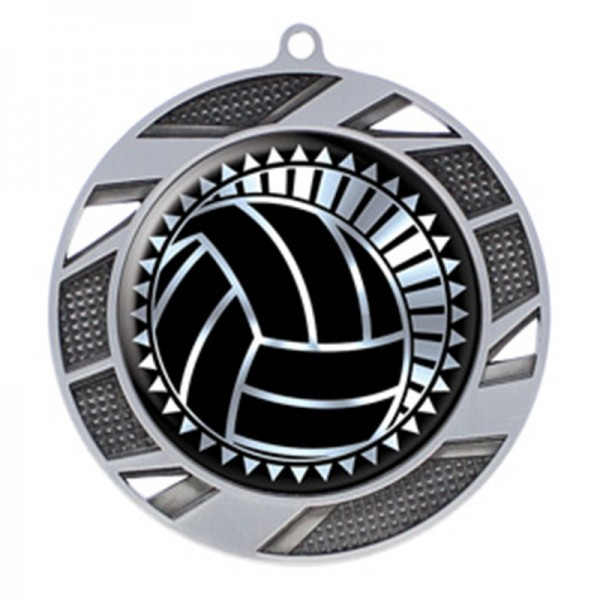 Médaille Argent Volleyball 2 3/4 po MMI50317S