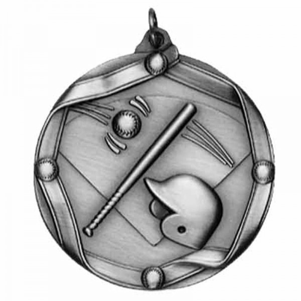 Médaille Argent Baseball 2 1/4 po MS602AS