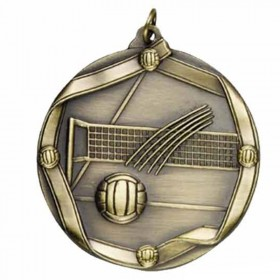 Médaille Or Volleyball 2 1/4 po MS617AG