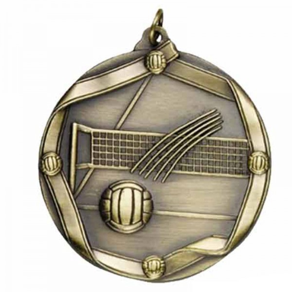 Volleyball Gold Medal 2 1/4 in MS617AG