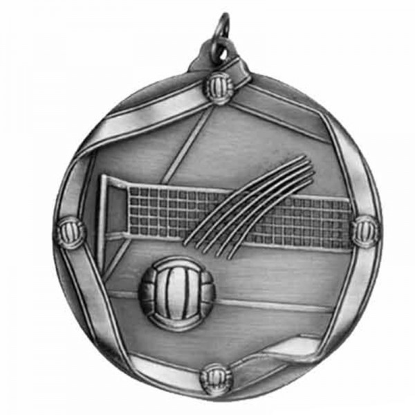 Volleyball Silver Medal 2 1/4 in MS617AS