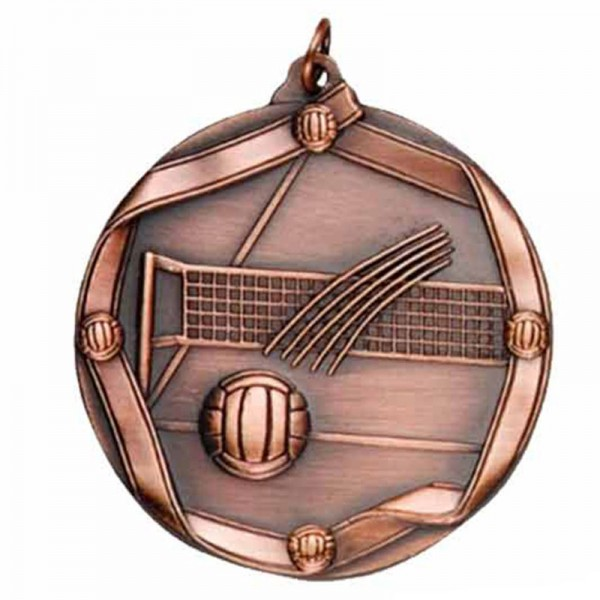 Médaille Bronze Volleyball 2 1/4 po MS617AB