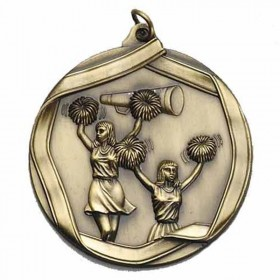 Médaille Or Cheerleading 2 1/4 po MS605AG
