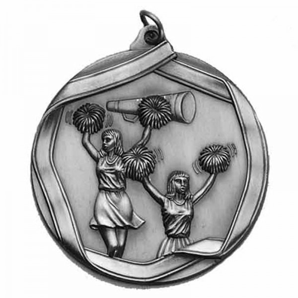Médaille Argent Cheerleading 2 1/4 po MS605AS