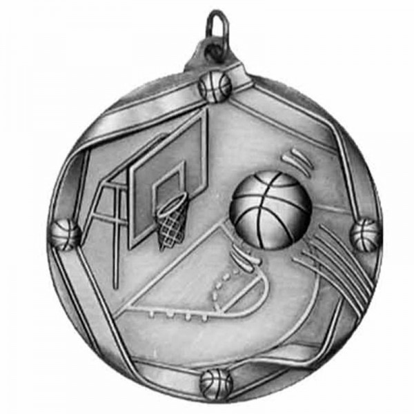 Médaille Argent Basketball 2 1/4 po MS603AS
