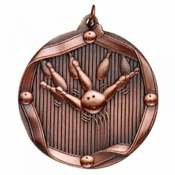 Bowling Bronze Medal 2 1/4 in MS604AB