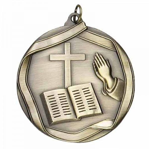 Médaille Or Religion 2 1/4 po MS654AG